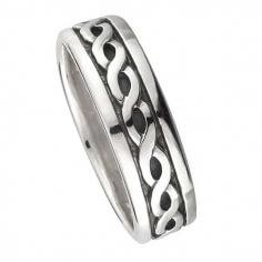 Damen Ewigkeit Knoten Ehering - Silber