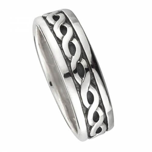 Women's Eternity Knot Wedding Ring - Silver