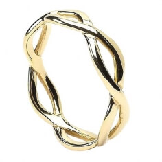 Bague noeud infini pour homme - Or jaune