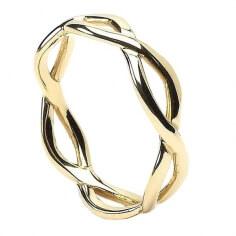 Herren Unendlichkeit Knoten Ring - Gelbgold