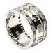 Dreifaltigkeits ring mit Saphiren und Diamanten - Alles weißes Gold