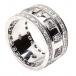 Bague Noeud Trinité avec Diamants - Tout l'or blanc
