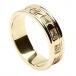 Geschnitzter Trinity Ehering für Damen mit Besatz - Alles gelbes Gold