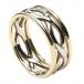 Bague à nœud infini pour femme avec bordure - or blanc et jaune