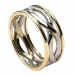 Men's Infinity Knot Ring with Trim - White & Yellow Gold