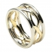 Women's Infinity Knot Ring with Trim - Yellow & White Gold