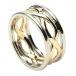 Damen Unendlichkeit Knoten Ring mit Trim - Gelb & Weißgold