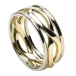 Men's Infinity Knot Ring with Trim - Yellow & White Gold