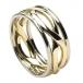 Herren Unendlichkeit Knoten Ring mit Trim - Gelb & Weißgold