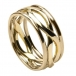 Infinity Knot Ring with Trim - All Yellow Gold