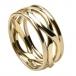 Unendlichkeits Knoten Ring mit Trim - Alle Gelbgold