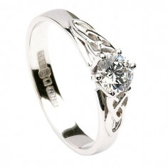 Trinity Knot Engagement Ring - White Gold