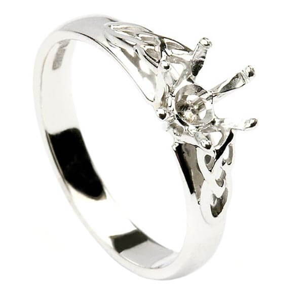 Engagement Rings Knot: Trinity Knot Engagement Ring With Solitaire Diamond