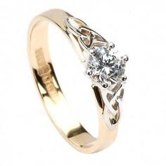 Bague de fiançailles à diamant trinité