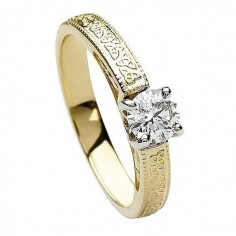 Trinity Embossed Round Cut Diamond