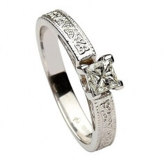 Trinity Embossed Princess Cut Diamond