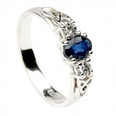 Sapphire Engagement Ring - White Gold