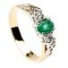 Smaragd und Diamant Verlobungsring