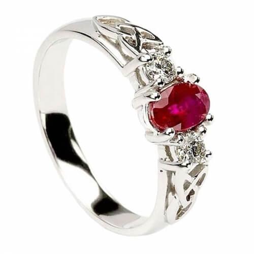 Rubin und Diamant Verlobungsring