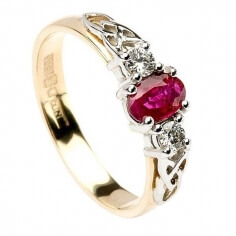 Ruby Engagement Ring - Yellow Gold