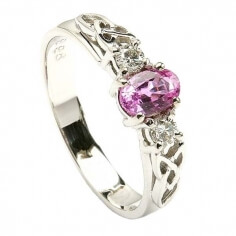 Pink Sapphire White Gold Ring
