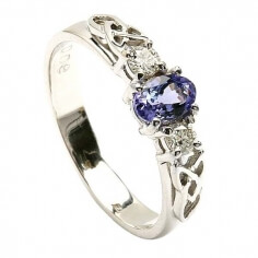 Tanzanite White Gold Engagement Ring