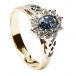 Bague grappe saphir et diamants
