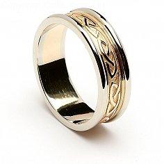 Blathnaid Keltischer Knoten-Hochzeits-Ring