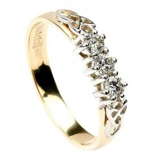 Three Stone Diamond Engagement Ring - Yellow Gold