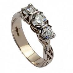 Bague de fiançailles éternité - Or blanc