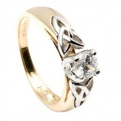 Trinity Knoten Einsatz Verlobungsring - Gelbgold