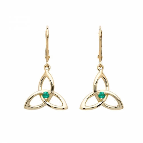 Smaragd Dreifaltigkeit Knoten Ohrringe