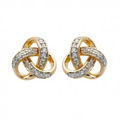 Diamond Trinity Stud Earrings