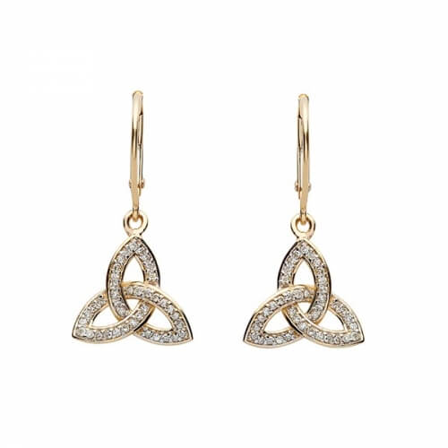Diamond Trinity Drop Earrings