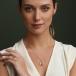 Januar Geburtsstein Claddagh Halskette
