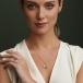 February Birthstone Claddagh Necklace - On Model