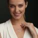 März Geburtsstein Claddagh Halskette