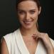 November Claddagh Birthstone Necklace - On Model