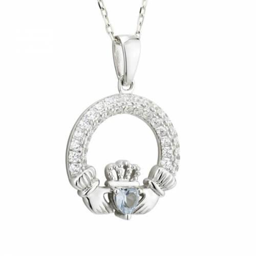 Dezember Claddagh Geburtsstein Halskette