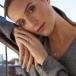 June Amethyst Claddagh Ring - On Model