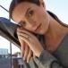 September Sapphire Claddagh Ring - On Model