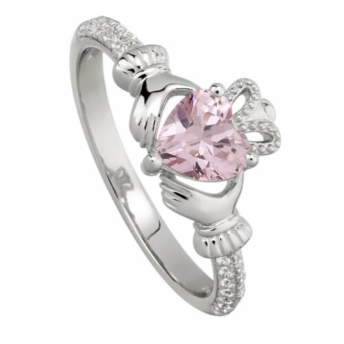 October Rose Claddagh Ring