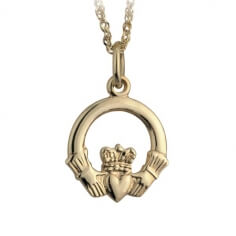 Small Gold Claddagh Pendant