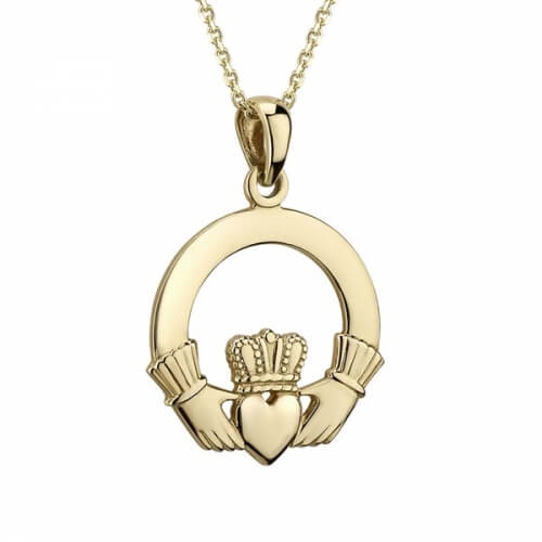 Medium Heavy Claddagh Pendant
