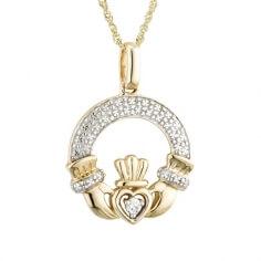 Pendentif Claddagh Diamant Classique