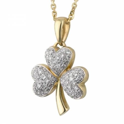 Micro Diamond Shamrock Pendant