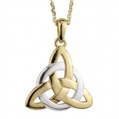 Pendentif noeud trinité entrelacé