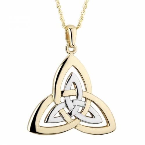 Large Two Tone Trinity Pendant