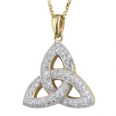 Diamond Trinity Knot Necklace