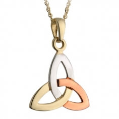 Tricolor Trinity Knot Pendant